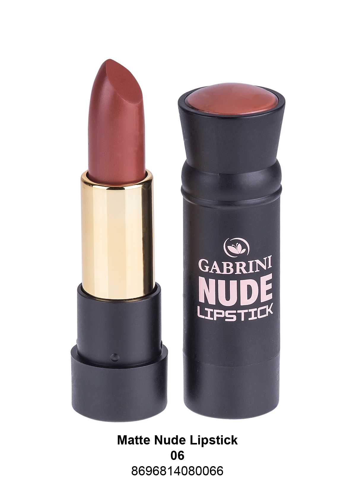 Gabrini Matte Nude Lipstick 06 Gabrini Kozmetik