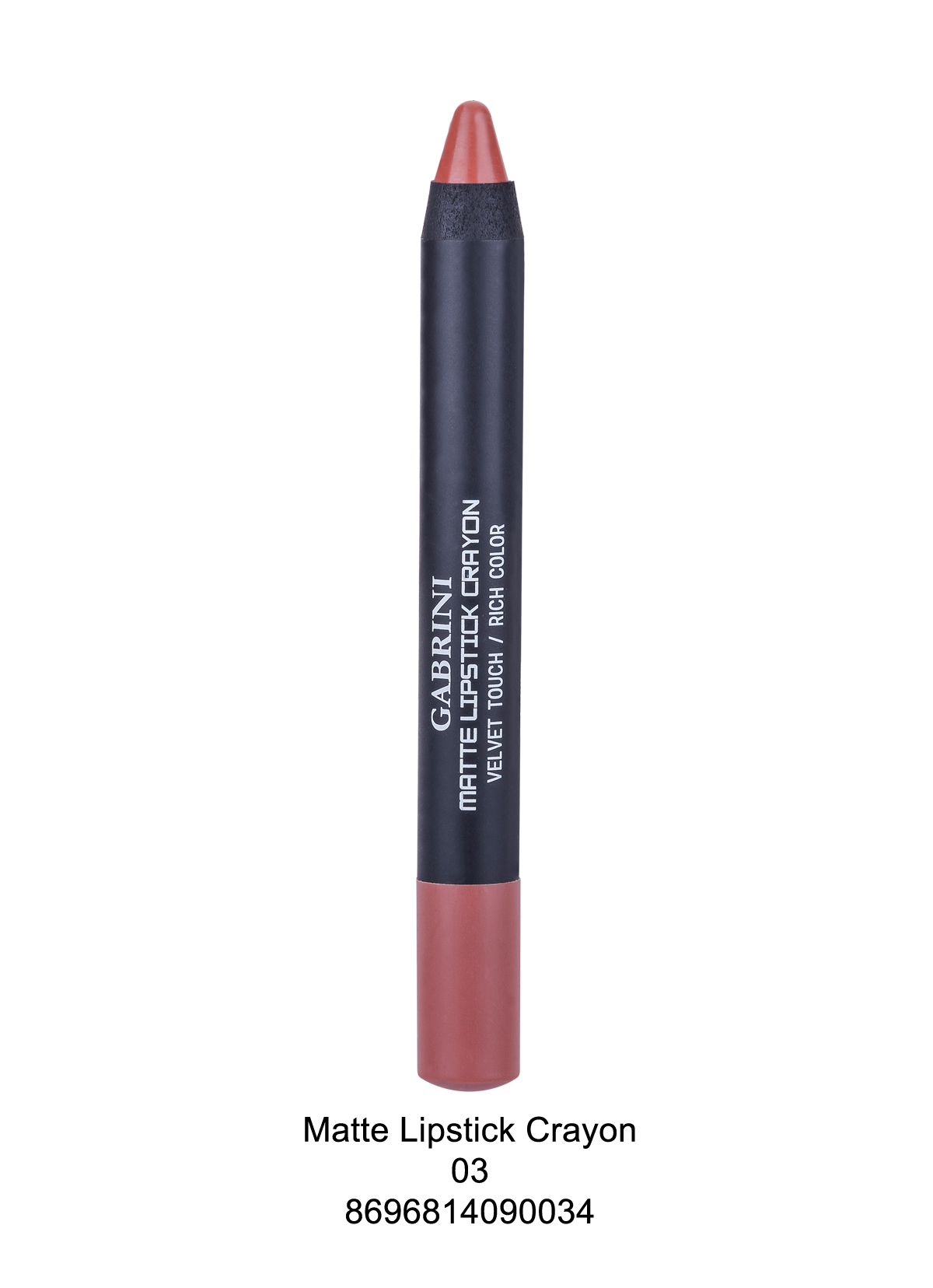 Gabrini Matte Lipstick Crayon 03 Gabrini Kozmetik