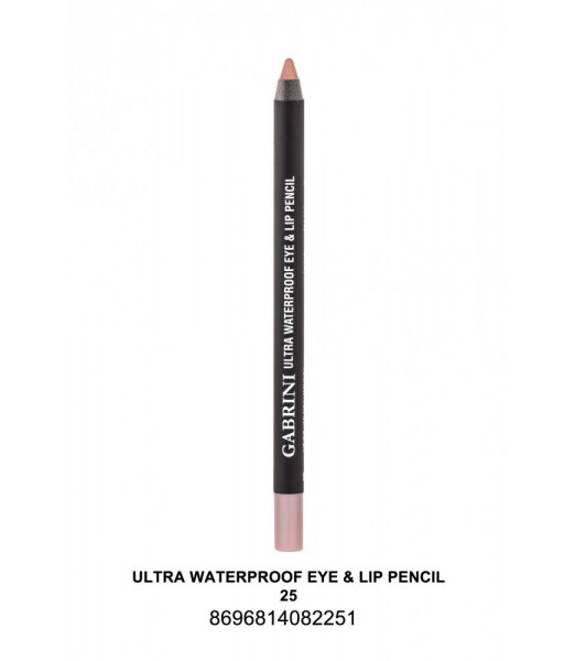 GABRİNİ Ultra Waterproof Lip& Eye Pencil 25