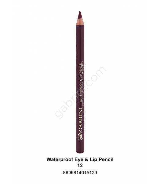 GABRİNİ WATERPROOF EYE & LİP PENCİL 12