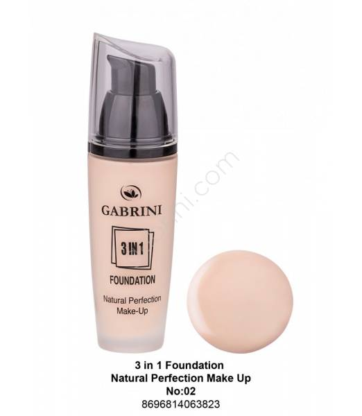 GABRİNİ 3 İn 1 Foundation Natural Perfection Make Up No:02