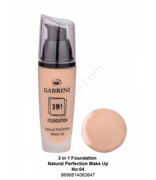 GABRİNİ  3 İn 1 Foundation Natural Perfection Make Up No:04