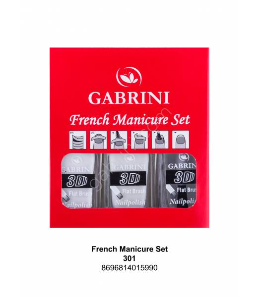 GABRİNİ FRENCH BLACK MANICURE SET