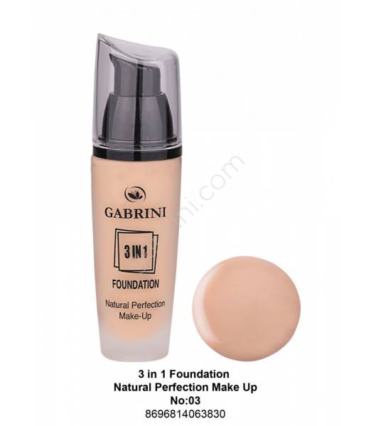 GABRİNİ 3 İn 1 Foundation Natural Perfection Make Up No:03