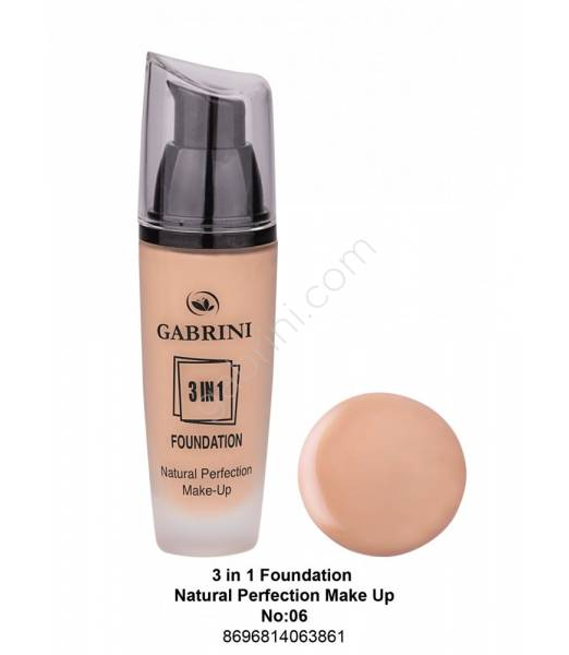 GABRİNİ 3 İn 1 Foundation Natural Perfection Make Up No:06