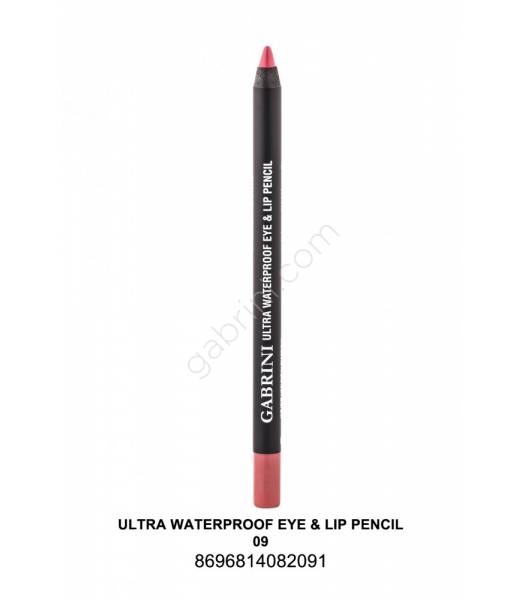 GABRİNİ  Ultra Waterproof Lip& Eye Pencil 09